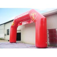 Wholesale Red Custom Inflatable Arch PVC Tarpaulin , Inflatable Race Arch Logo Printing from china suppliers