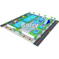 China Giant Inflatable Amusement Park Land Ground Water Park Builder Barry on sale