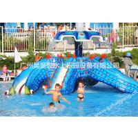 Wholesale 4.5m High  Fiberglass Octopus Kids Water Slides for Water Playground from china suppliers