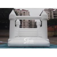 Wholesale Outdoor 5x4m adults wedding white bouncy castle for wedding parties or events from china suppliers
