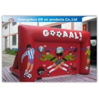 Wholesale Red Funny Boys Inflatable Football Game / Inflatable Sports Arena For Ball Shooting from china suppliers