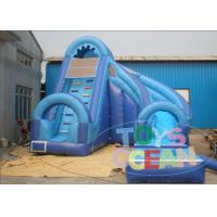 Wholesale Large Curved Outdoor Inflatable Backyard Water Slide Business Blue For Children from china suppliers