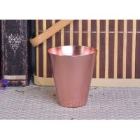 Quality 95ml Rose Gold Taper Cone Shaped Aluminium Candle Vessel Metal Jars For Candle for sale