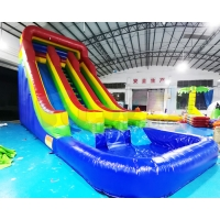 Wholesale Playground Outdoor Inflatable Water Slides Double Side Jumping Bouncer from china suppliers