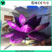 Wholesale Giant Wedding Decoration Inflatable Lotus , Oxford Inflatable Purple Flower from china suppliers
