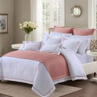 Wholesale Soft And Sophisticated Hotel Bed Linen Queen Size With Piping Edge For Restaurant from china suppliers