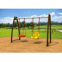Wholesale No Paint Stripping Baby Swing Sets Outdoor Play Swing Set With Cradle KP-G008 from china suppliers