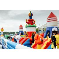 Quality Bouncia Airtight Kids Game Inflatable Fun City Castle With Slide for sale