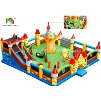 China Outdoor Giant Inflatable Amusement Park Colorful PVC Tarpaulin Combo Playground on sale
