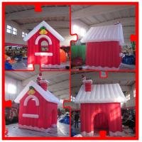 Wholesale 4m Inflatable Christmas House with Santa on Chimney for Christmas from china suppliers