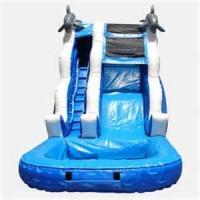 Wholesale Durable Silk Print Hot Galvanized Commercial Inflatable Slide Amusement Park Water Slides For Kids from china suppliers