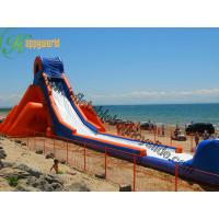 Wholesale Outdoor Giant Hippo Backyard Inflatable Water Slides / Garden Blow Up Water Slides from china suppliers