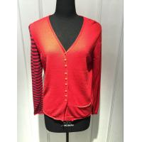 Wholesale Computer Knitted Womens Red Cardigan Sweater Long Sleeve Anti Shrink from china suppliers