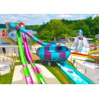 Wholesale Open / Close High Speed Water Slide Red And Blue Fiberglass Commercial Equipment from china suppliers