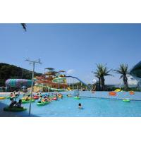 China Custom Kids Water Play Equipment , Childrens Fun Play Fiberglass Slides on sale