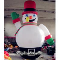 Wholesale Cute Inflatable Christmas Snowman with Red Hat for Christmas Outdoor Supplies from china suppliers