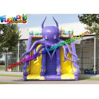 Wholesale Commercial Inflatable Purple Octopus Slide , Giant Dual Dry Slide For Kids N Adults from china suppliers