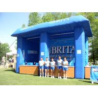 China Blue Brita Inflatable Booth For Display , Advertising Inflatables Display Booth on sale