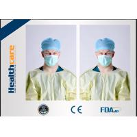 Buy cheap Yellow Disposable Isolation Gowns One Time Use Knitted Cuff Barrier Gowns from wholesalers