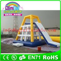 China QinDa Inflaable Best Sale inflatable floating water slide adults inflatable water slide on sale