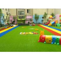 Wholesale Dense Surface Silky Soft Monofilament PE + Curly PP Outdoor Artificial Grass , 5 - 8 Years Warranty from china suppliers