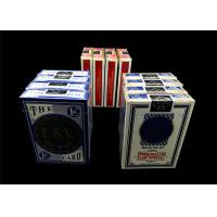 Wholesale Double Poker Coating Casino Cards , Paper / Plastic High End Playing Cards from china suppliers