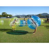Wholesale Yellow / Blue / Clear Inflatable Bumper Bubble Ball , Kids Or Adults Body Zorbing from china suppliers