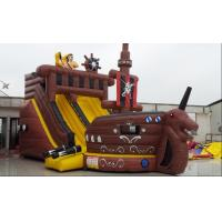 Wholesale Pirate Ship With Inflatable Slide For Rental , Pvc Inflatable Slide With Many Play Items Inside For Kids from china suppliers
