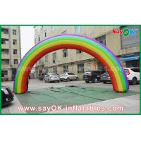 Wholesale Beautiflu and Durable Oxford Cloth or PVC Inflatable Rainbow Arch With CE / UL Blower from china suppliers