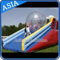 China Inflatable Human Hamster Glass Roller Zorb Ball For Ramp Zorbing on sale