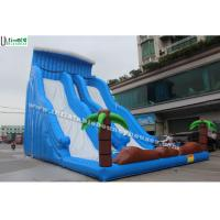 Wholesale 12m High Commercial Inflatable Water Slides For Adult / Big Blue Water Slide from china suppliers