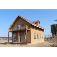 Wholesale WPC House With Light Gauge Frame , Solar Panel Prefabricated Construction from china suppliers