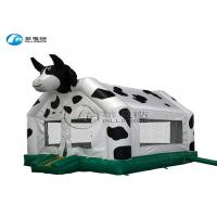 China Cute Cow Theme Inflatable Bounce House Castle Bounce House With Slide on sale
