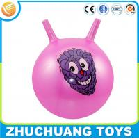 Quality cheap plastic inflatable toy handle ball for sale