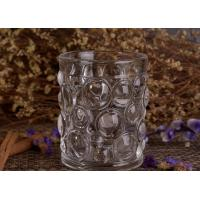 Wholesale Transparent Thick Clear Glass Candle Holders Set With Nailed Pattern from china suppliers