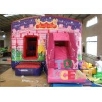 China Kids Pink Princess Castle Inflatable Jumping Castle With Slide on sale