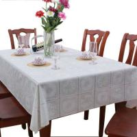 Wholesale White PVC Table Cloth Covers Wipe Clean , No Need To Wash Or Iron from china suppliers