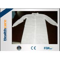 Wholesale Lightweight Disposable Lab Coat Non-woven White Coat With Two Pockets CE ISO Approval from china suppliers
