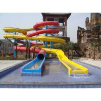 Wholesale 1m Width 12m Height Aqua Slide Fiber Glass Spiral Water Slide For Children / Adults from china suppliers
