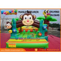 Wholesale Double Stitching Monkey Jungle  Commercial Bouncy Castles / Kids Inflatable Jumper from china suppliers