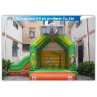 Wholesale Elephant Animal Shape Inflatable Bouncy Castle With Slide For Children Games from china suppliers