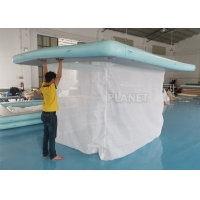 Wholesale Portable Inflatable Floating Ocean Sea Swimming Pool / Protective Anti Jellyfish Pool With Netting Enclosure For Yacht from china suppliers