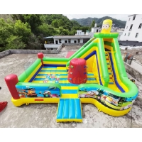 Wholesale Digital Printing Minion Commercial Bouncy Castles Children Combo Slide from china suppliers