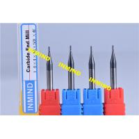 Wholesale Carbide 0.2 mm Micro Milling Cutters , 2 Flute TiSiN Coating Milling Machine Cutters from china suppliers