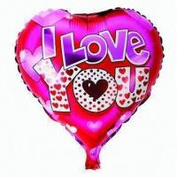 Wholesale 18-inch Heart Foil Balloon for Valentine's Decoration, OEM Orders Accepted from china suppliers