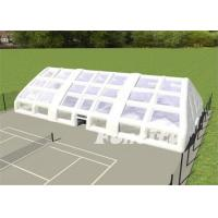Quality Size 36x18x9m Material 0.55mm PVC Tarpaulin Inflatable Tennis Tent for Sport Tent for sale