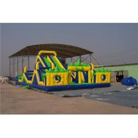 China Giant Blow Up Slip And Slide For Adults , 3 Lane Water Slide For Birthday Parties on sale