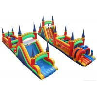 Wholesale Children Jumping Inflatable Bounce House , Minimize Air Leakage Giant Obstacle Course from china suppliers