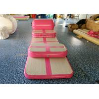 Pink Inflatable Air Track , Air Floor Gymnastics Mat No Noise During Training