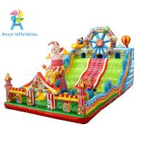 New design Ferris wheel and clown giant children Inflatable bouncer playground